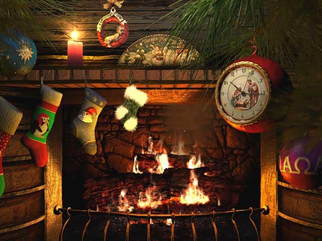 Feiertage 3D Bildschirmschoner - Fireside Christmas - Animierter ...